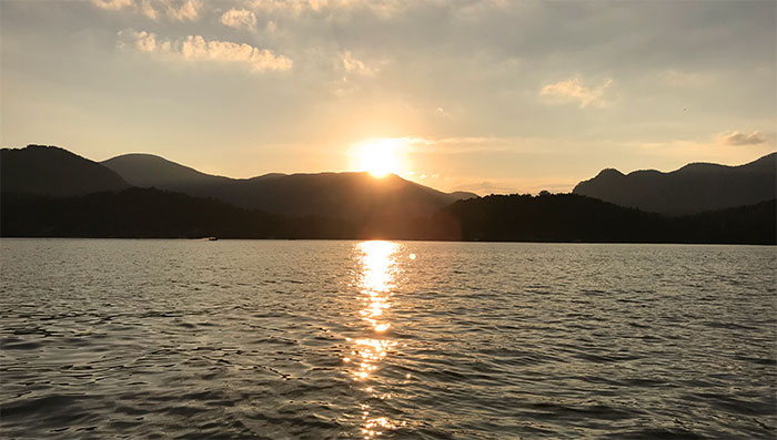 lake-lure-sunset